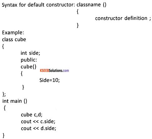 2nd PUC Computer Science Question Bank Chapter 9 Constructors and Destructors 7