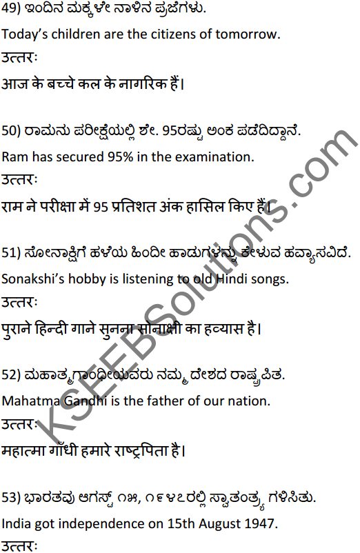 2nd PUC Hindi Workbook Answers अनुवाद 12