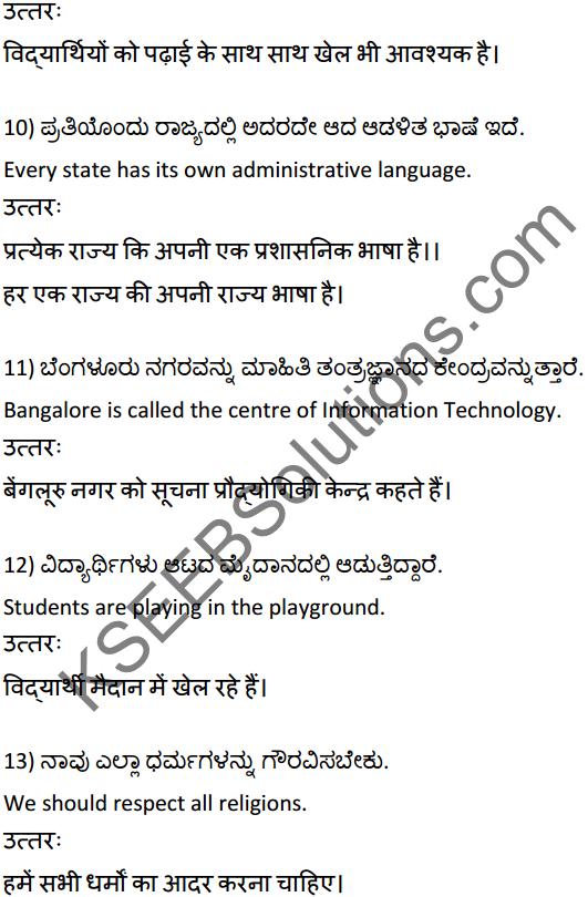 2nd PUC Hindi Workbook Answers अनुवाद 3