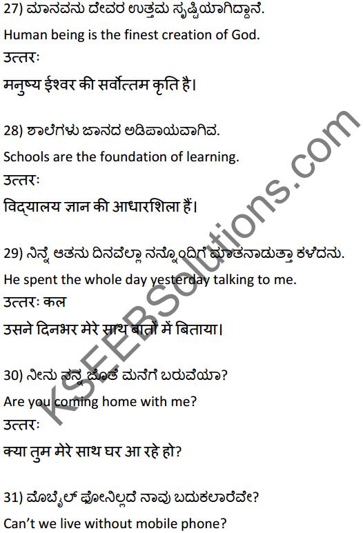 2nd PUC Hindi Workbook Answers अनुवाद 7