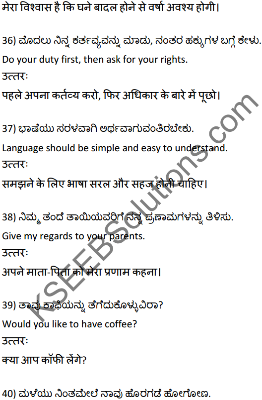 2nd PUC Hindi Workbook Answers अनुवाद 9