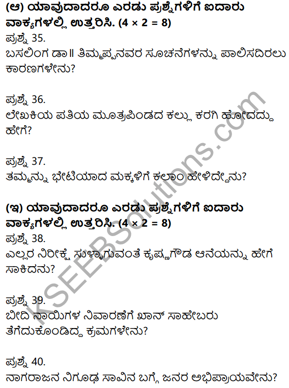2nd PUC Kannada Previous Year Question Paper June 2017 7