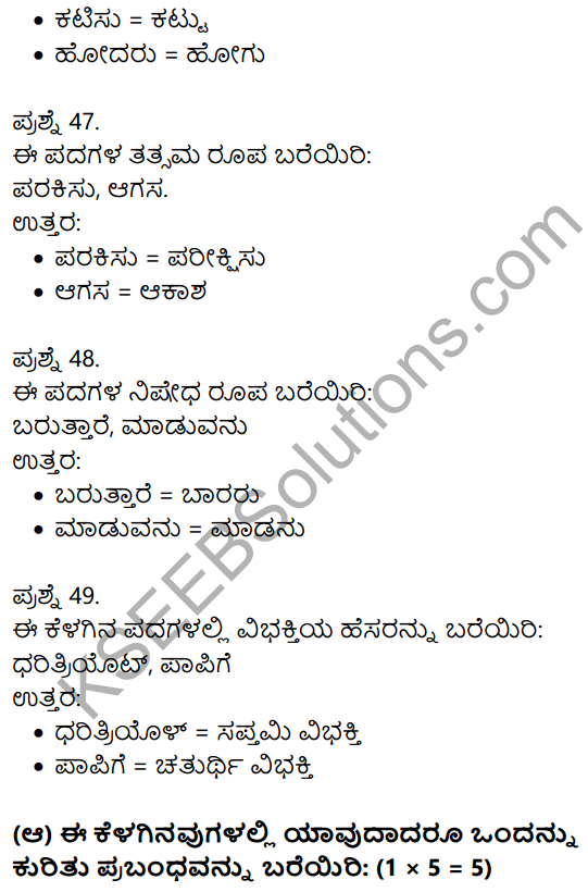 2nd PUC Kannada Previous Year Question Paper June 2018 10