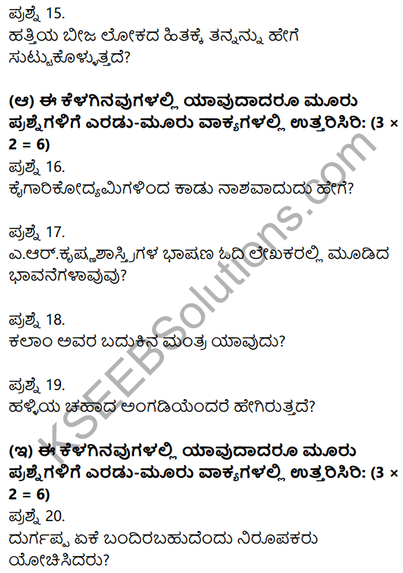 2nd PUC Kannada Previous Year Question Paper March 2017 4