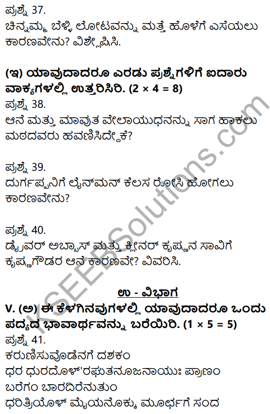 2nd PUC Kannada Previous Year Question Paper March 2019 8