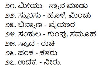 2nd PUC Kannada Workbook Answers Chapter 2 Samanarthaka Galu 4