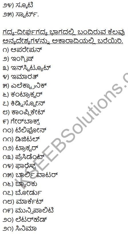 2nd PUC Kannada Workbook Answers Chapter 4 Desya, Anyadesyagalu, Tatsama-Tadbhava Galu 2