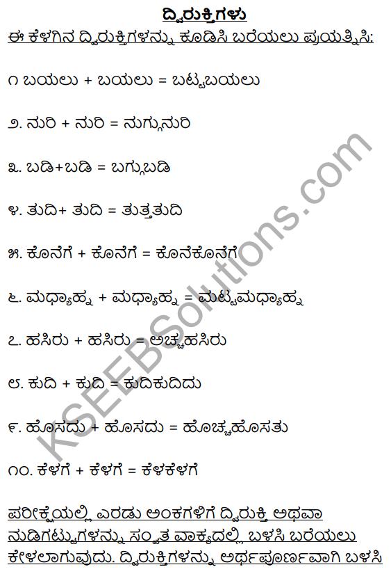 2nd PUC Kannada Workbook Answers Chapter 6 Dwirukthi Galu 1
